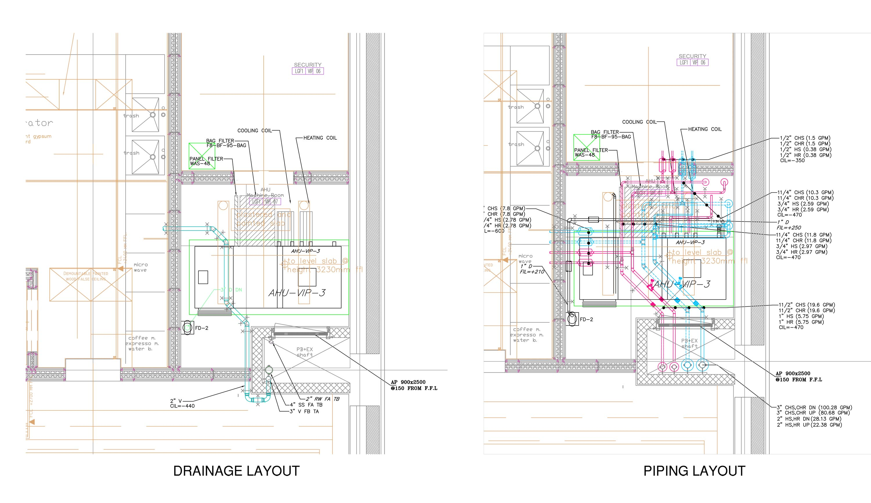 Vg Services Hvac Cad Drawing Ahu Roompdf